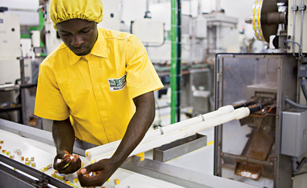 Confiserie, bonbons et chocolats en Afrique