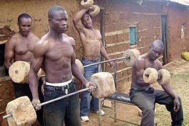 Salle de musculation en Afrique